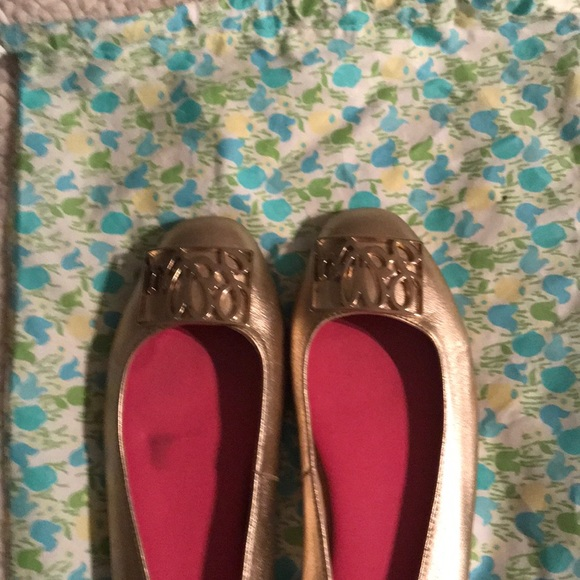 Lilly Pulitzer Shoes - Lilly Pulitzer gold ballet flats